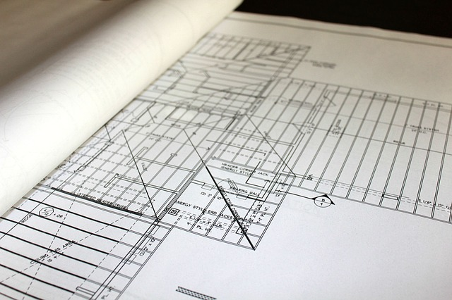 plan de maison en construction