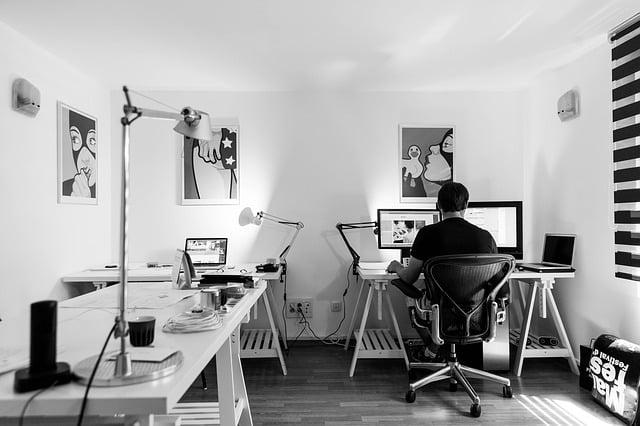 bureau à domicile organisé