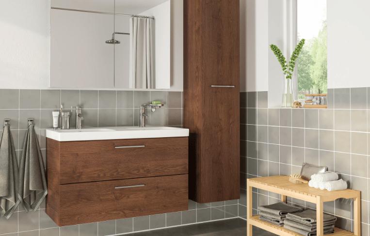 salle de bain ikea en bois