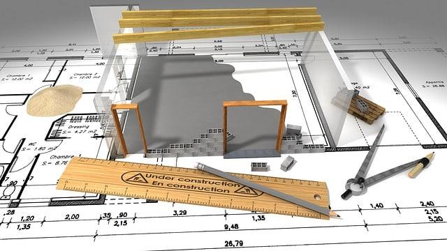plan d'une construction de maison