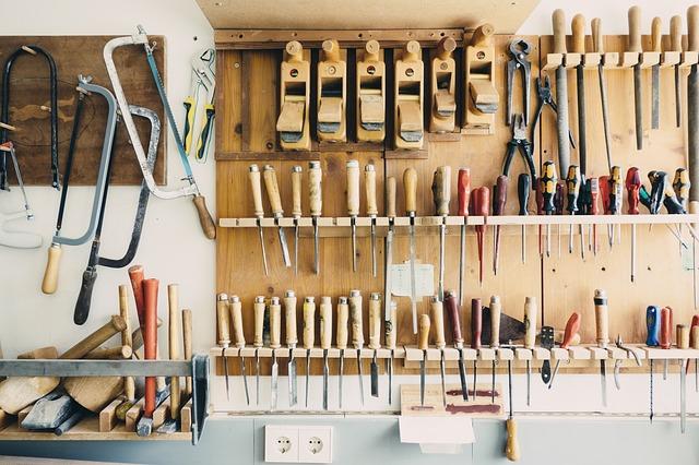 atelier dans un garage