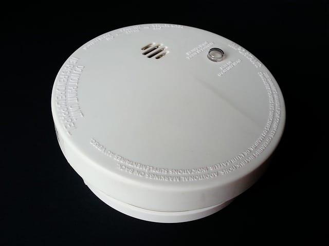 photo d'un détecteur de fumée