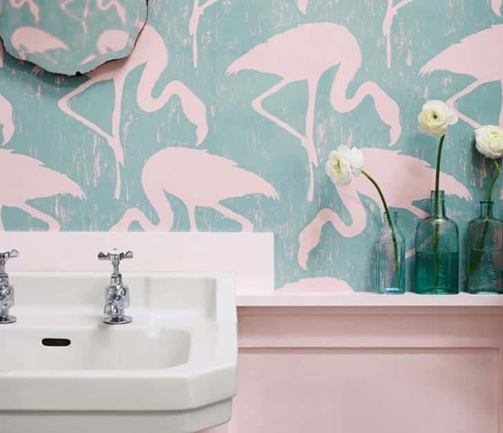 papier peint de salle de bain