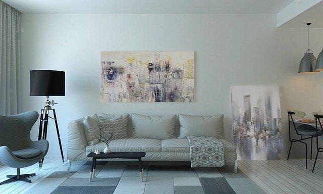 salon moderne avec couleurs claires