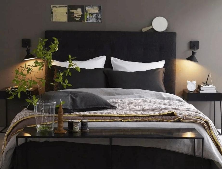 lit avec sa tete de lit