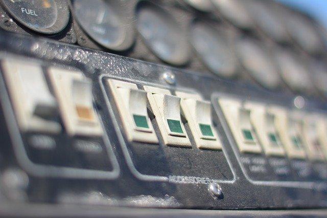 commutateur sur un compteur électrique