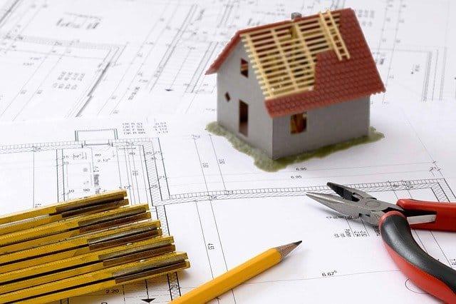 planification d'une maison sur un plan