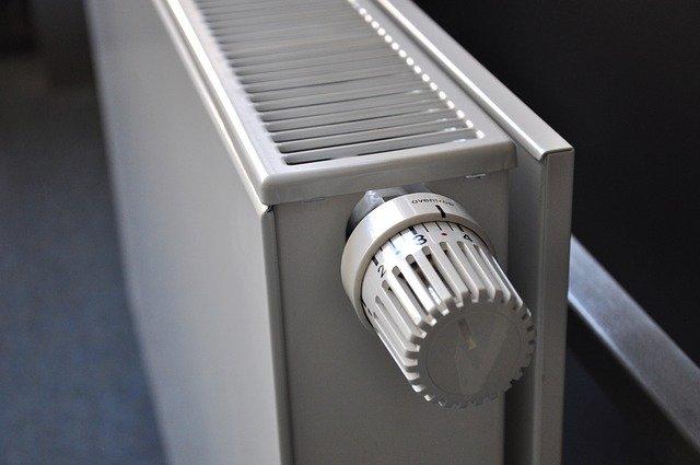 un bouton de radiateur