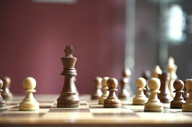 table d'un jeu d'échecs