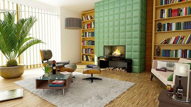 cheminée dans un salon