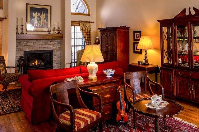 meubles en bois dans un salon