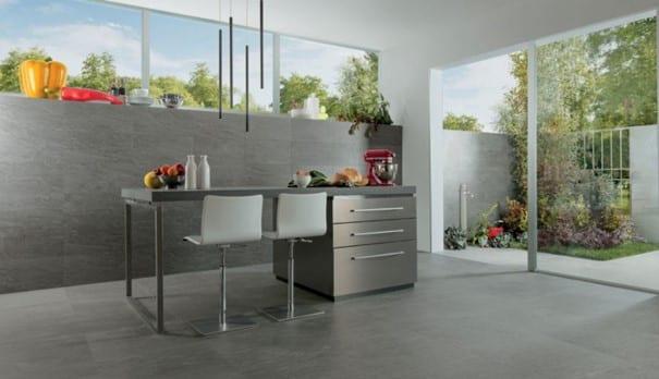 cuisine moderne industrielle grise