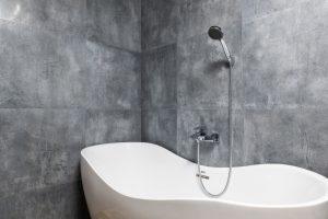 Douche dans une baignoire moderne